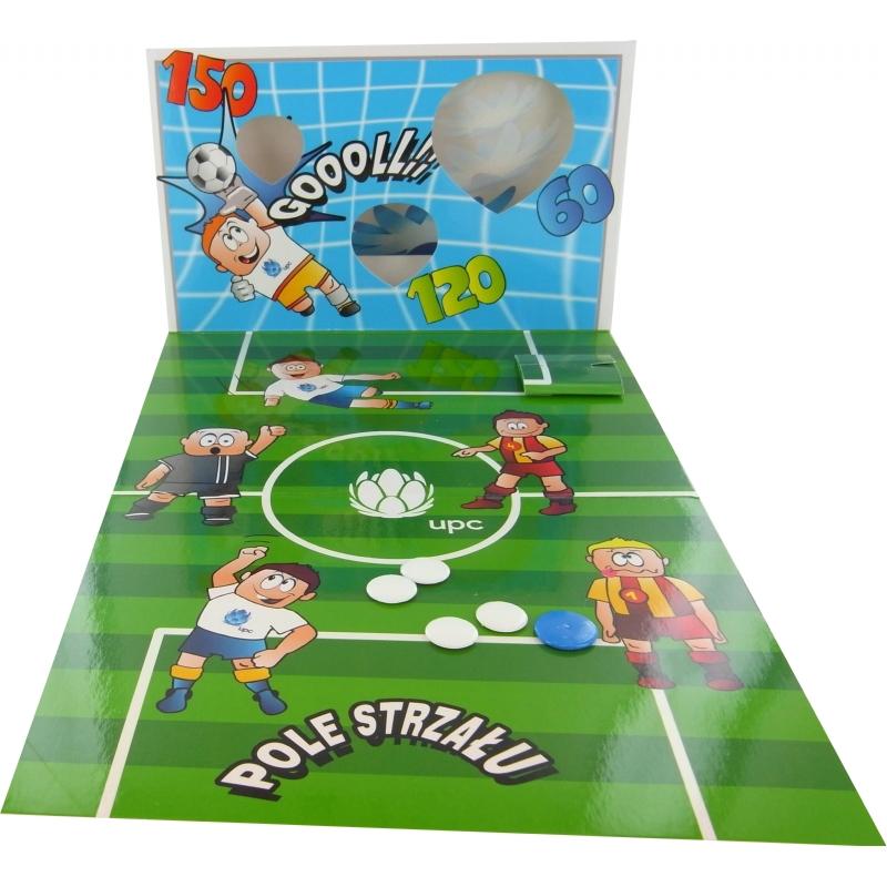 Mailingcard met voetbalspel