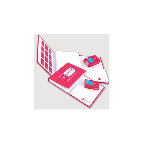 Hard cover notebook with sheets and index