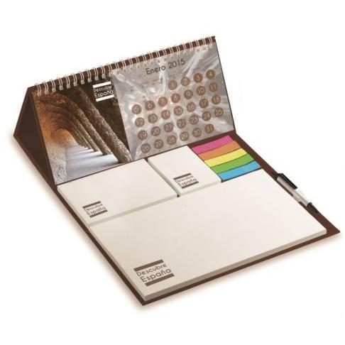 Bureaukalender met blaadjes