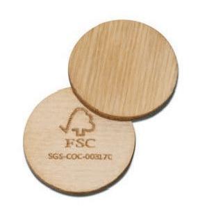 FSC houten winkelwagenchip