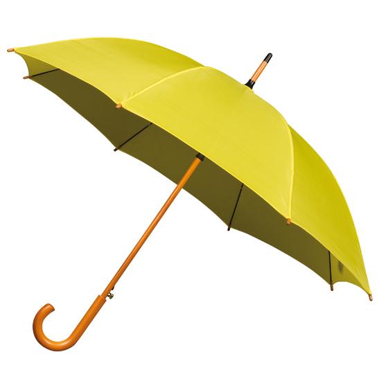 Paraplu met houten stok en handgreep