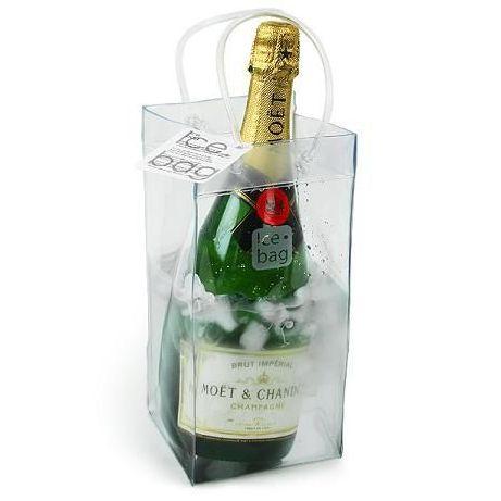Doorzichtige wijn/champagne koeler Icebag