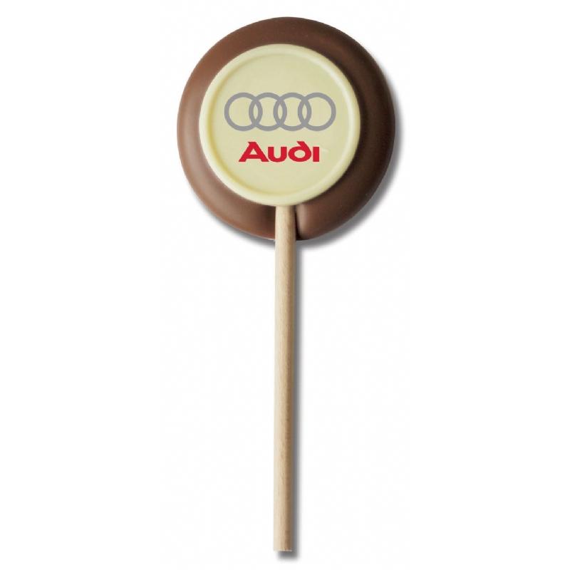 Chocolade lolly met logo