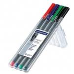Promotionele pen met logo - set_met_4_fineliners_naar_keuze(4)