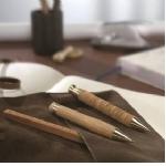 Promotionele pen met logo - lederen_balpen