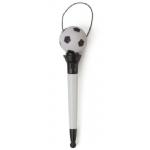 Promotionele pen met logo - plastic_balpen_met_anti-stress_voetbal