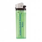 Promotionele pen met logo - transparante_aansteker