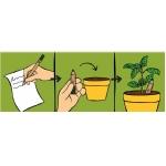 Promotionele pen met logo - plant_eens_een_potlood