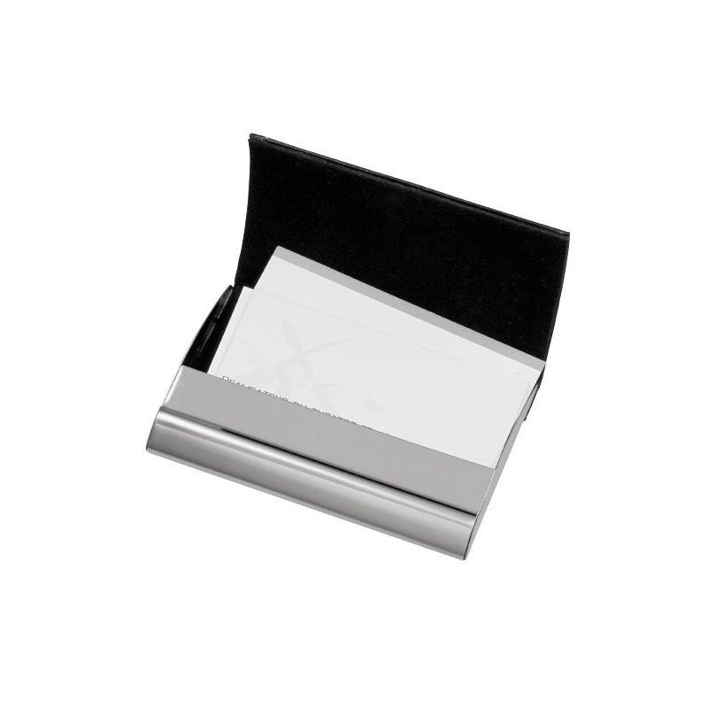 111993943343 -  luxe metalen visitekaarthouder met magnetische sl