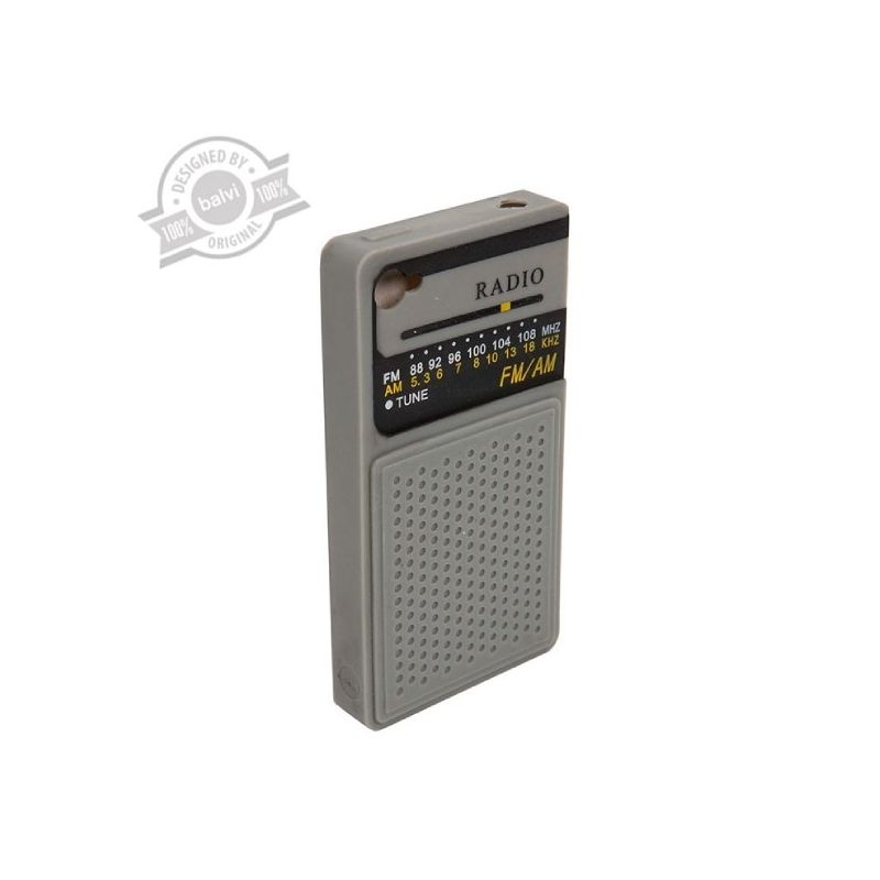 Radio met bedrukking