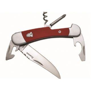 111893246964 - Couteau Laguiole multifonctions, manche G10 rouge